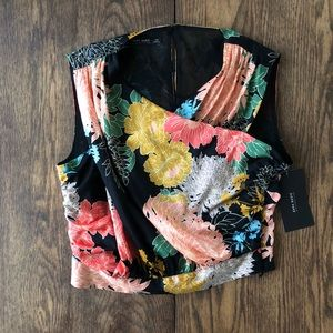 NWT Zara floral print crop top blouse